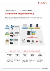 ノンプログラミング帳票出力 Create!Form Magicfolder Plus